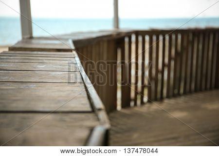 Summerhouse on the seaside, closeup