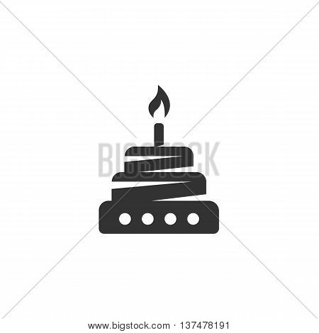 Cake icon isolated on white background. Cake vector logo. Flat design style. Modern vector pictogram for web graphics. - stock vector