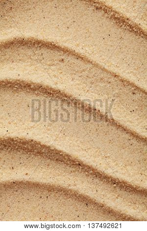 raked sand on the beach, summer background