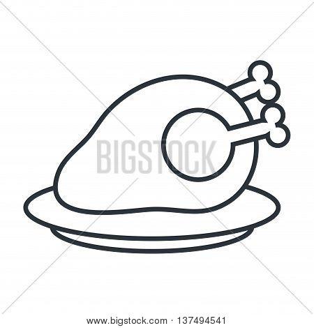 Delicious food gastronomy icon, vector illustration graphic.