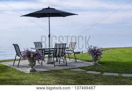 Patio Furniture With a View of Lake Erie