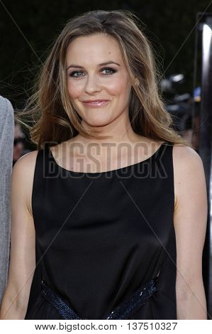 Alicia Silverstone at the Los Angeles premiere of 'Tropic Thunder' held at the Mann Village Theater in Westwood, USA on August 11, 2008.