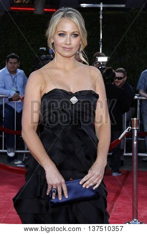 Christine Taylor at the Los Angeles premiere of 'Tropic Thunder' held at the Mann Village Theater in Westwood, USA on August 11, 2008.