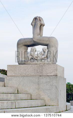Statues In Vigeland Park In Oslo, Norway