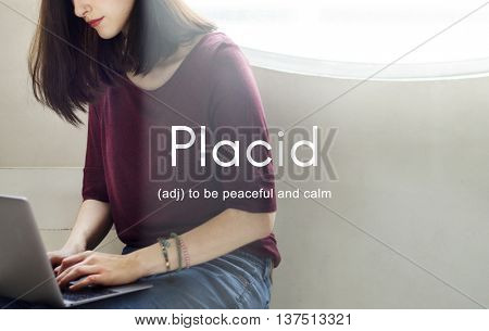 Nirvana Placid Peaceful Tranquility Serene Rest Concept poster