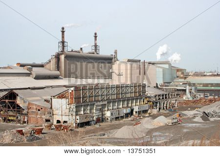 A steel factory yard