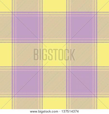 Traditional Scottish yellow pink tartan pattern made seamless for kilt or bandana