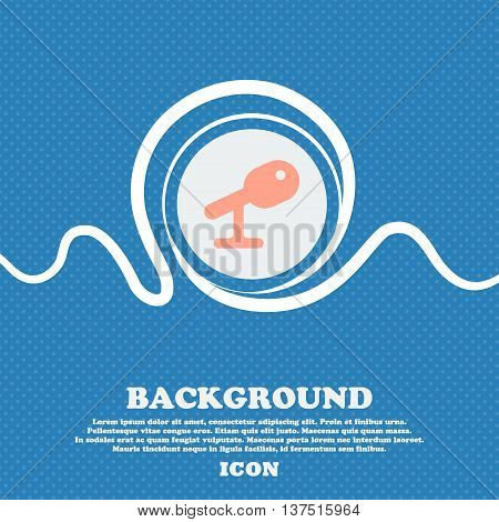 Microphone, Speaker  Sign Icon. Blue And White Abstract Background Flecked With Space For Text And Y