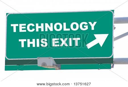 Exit sign concepts technology this exit isolated
