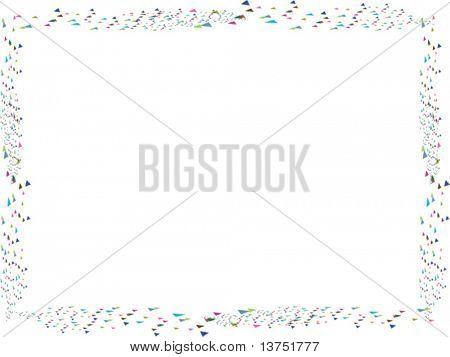 A fun confetti vector border