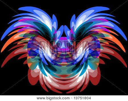 A flowing butterfly like vector background