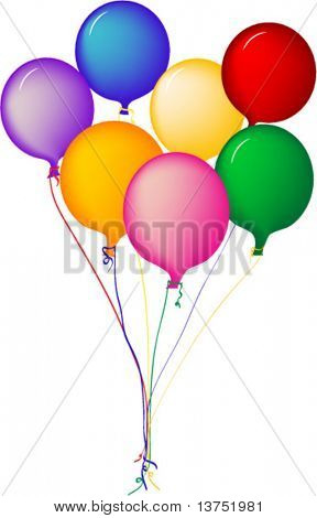 Balloons in vector format