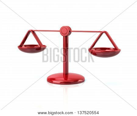 3D Illustration Of Red Scales Icon