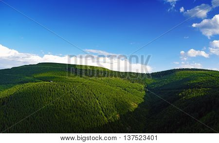 Praded hill in Jeseniky mountains in summer day
