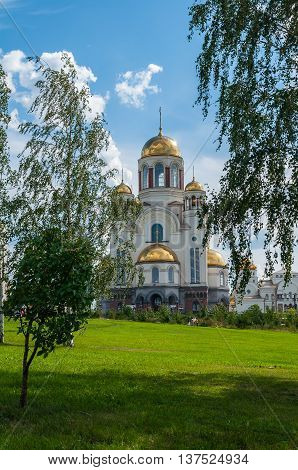 The Church on Blood in Honour of All Saints Resplendent in the Russian Land in Yekaterinburg Russia. The church commemorates the Romanov sainthood.
