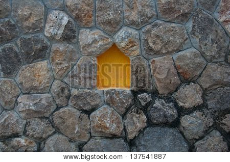stone wall in Thai style art, decoration in house