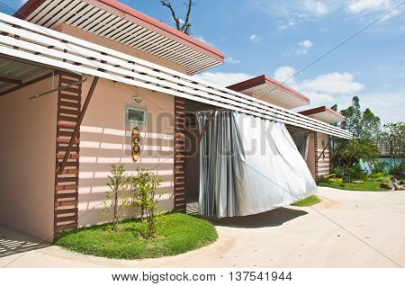 Tourist resort with houses and garage at Thailand