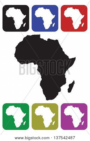 Africa Continent Icon composition digitally generated image square