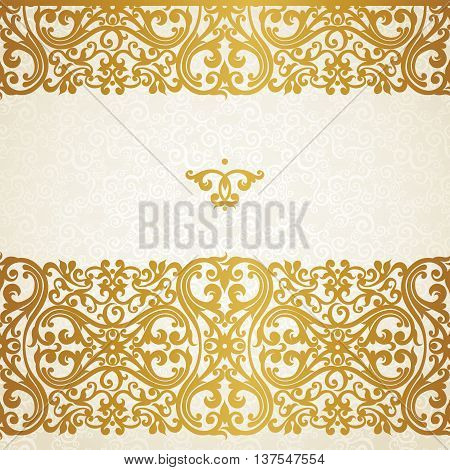 Vector Vintage Seamless Border In Victorian Style.