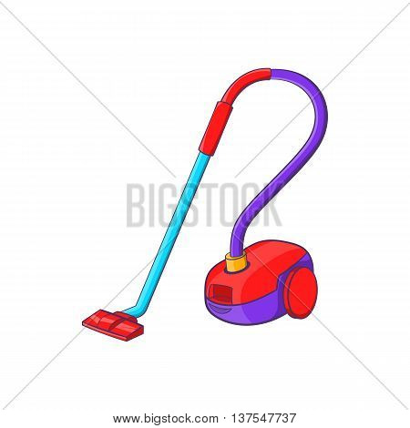 Vacuum cleaner icon in cartoon style isolated on white background. Appliances symbol