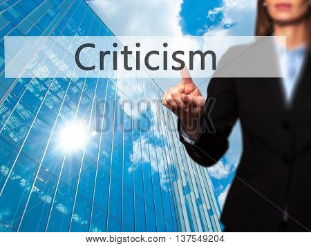 Criticism - Successful Businesswoman Making Use Of Innovative Technologies And Finger Pressing Butto
