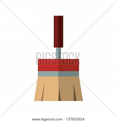 Constuction and repair concept represented by paint brush tool icon. isolated and flat illustration