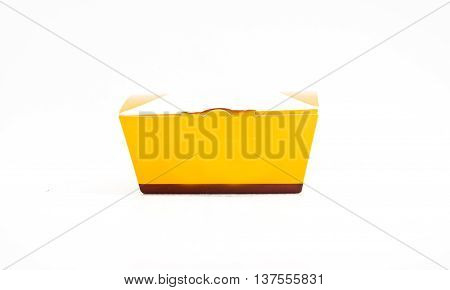 empty of paper box on white background