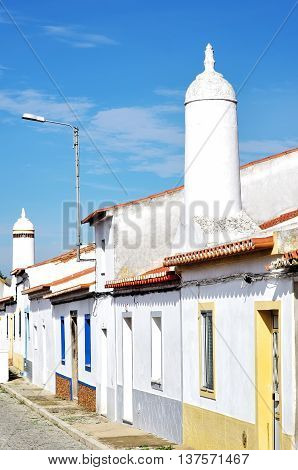 traditional street in south of Portugal, Mourao village