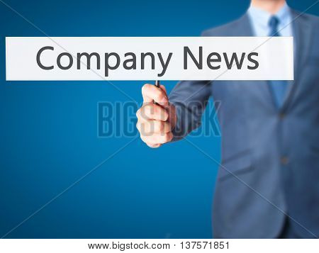 Company News - Business Man Showing Sign