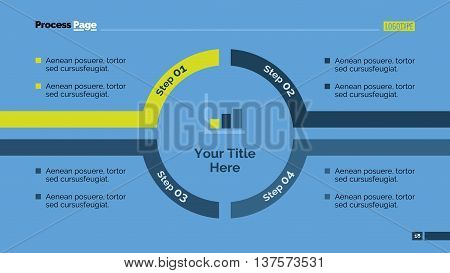 Process chart slide template. Business data. Graph, diagram, design. Creative concept for infographic, templates, presentation, report. Can be used for topics like management, planning, finance.