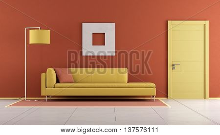Yellow And Orange Lounge