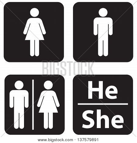 Restroom illustration symbol women men public restroom domestic
