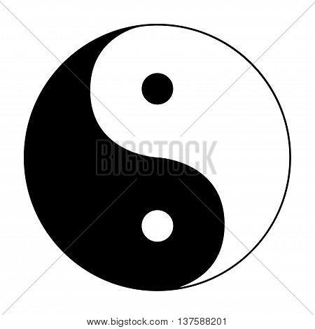Ying Yang Symbol Of Harmony And Balance On White Background