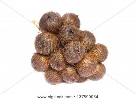 Salak fruit, Salacca zalacca isolated on the white background