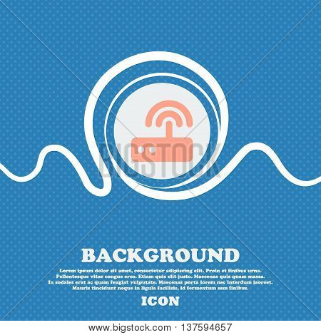 Wi Fi Router Sign Icon. Blue And White Abstract Background Flecked With Space For Text And Your Desi