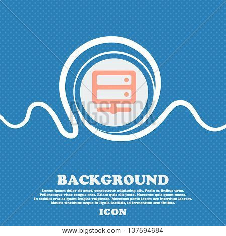 Server Sign Icon. Blue And White Abstract Background Flecked With Space For Text And Your Design. Ve
