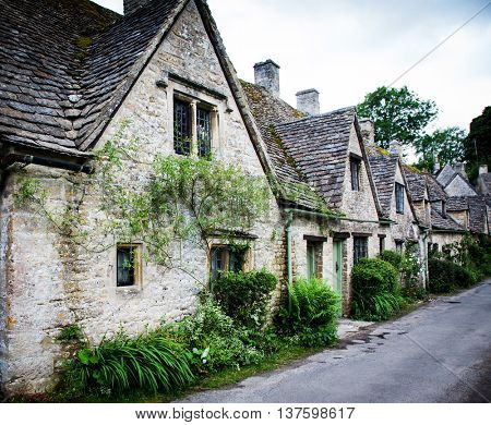 Houses of Arlington Row in the village of Bibury, England