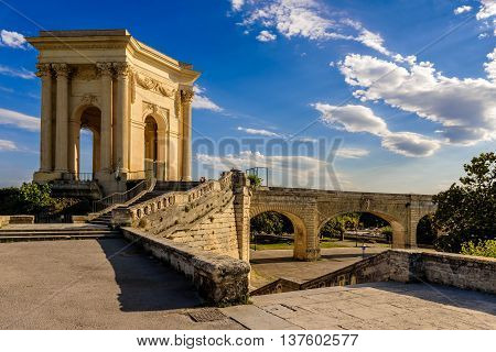 Chateau d'Eau in the city center of Montpellier, France