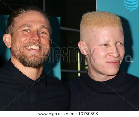LOS ANGELES - JUL 7:  Charlie Hunnam, Shaun Ross at the Equals LA Premiere at the ArcLight Hollywood on July 7, 2016 in Los Angeles, CA