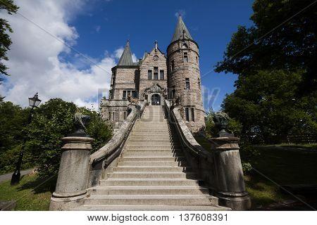 the teleborg fairy castle in växjö, sweden