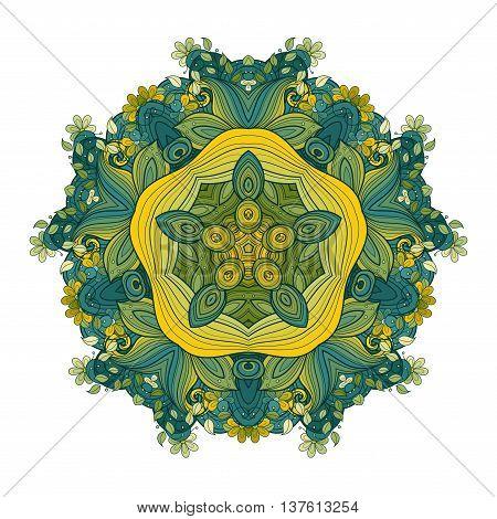 Vector Beautiful Deco Colored Contour Star