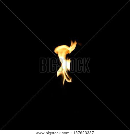 The Fire on the black background texture.