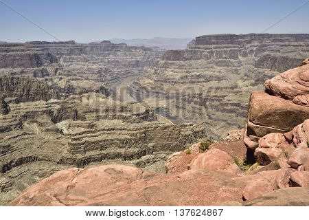 Western rim of the Grand Canyon Arizona