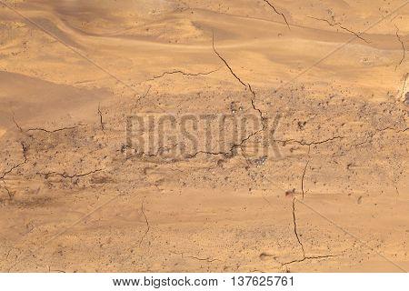 Muddy Soil Background. Martian Terrain Aerial View. poster