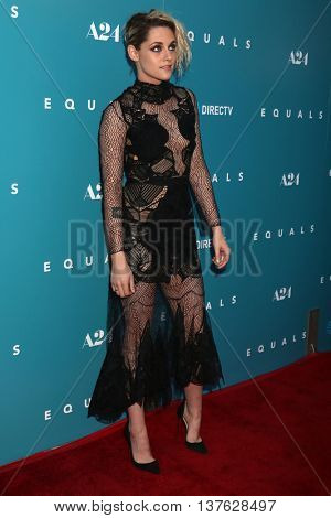 LOS ANGELES - JUL 7:  Kristen Stewart at the Equals LA Premiere at the ArcLight Hollywood on July 7, 2016 in Los Angeles, CA