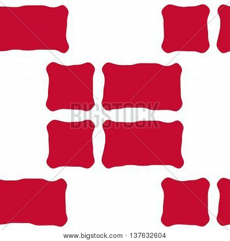 Seamless pattern of stylized flags of Denmark. Constitution or National Day flat staggered seamless pattern. Colors of Danish flag. Happy Constitution day of Denmark background.