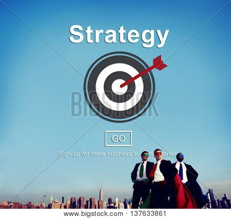 Strategy Analysis Mission Goals Strategic Concept poster