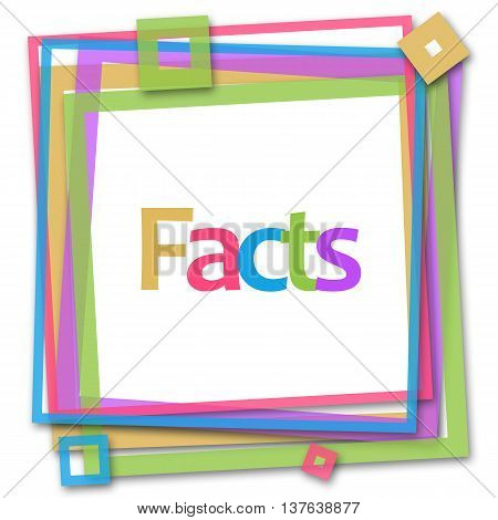 Facts text written over colorful frame background.