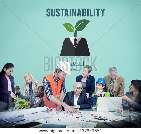 Sustainability Ecology Environmental Conservation Sustainable Concept poster
