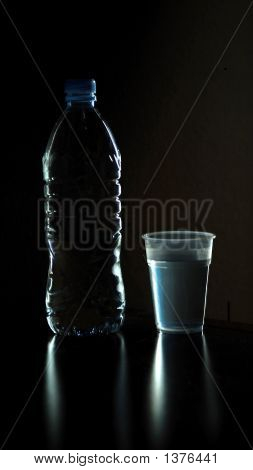 Water Bottle And Glass